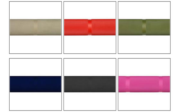 Six Cerakote color choices for the AB Olympic Training Bar