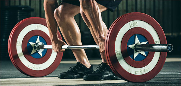 Captain America Shield Bumper Plates by Onnit