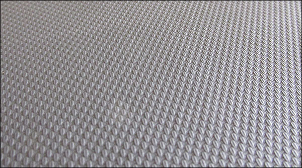 "Close-up of the Thompson Fat Pad's ""Grabber"" vinyl cushion"