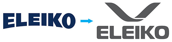Eleiko's new company logo - out with the old...