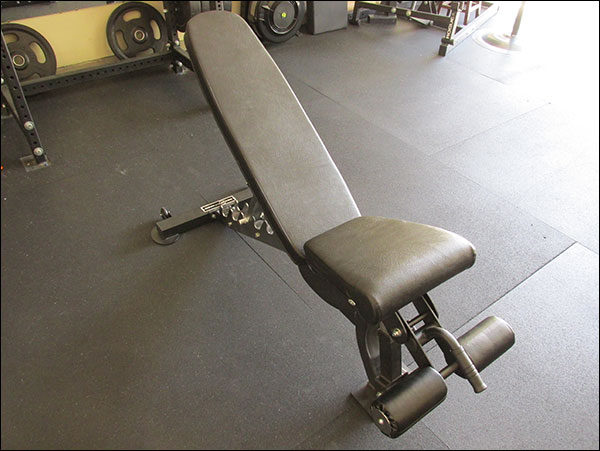 Rep Fitness FID Adjustable Bench - Incline positions range from about 20 to 85 degrees