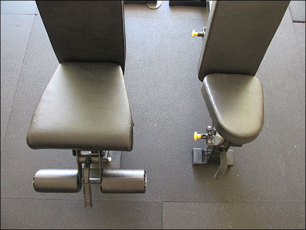Difference in seat size and shape - Rep FID Adjustable and Legend incline-only bench