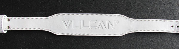 Vulcan 8mm Olympic Weightlifting Belt - white leather