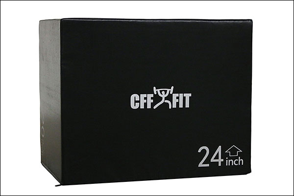 CFF Cushion 3-in-1 Plyo Box, Black, 20/24/30""