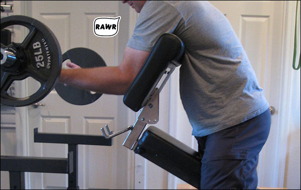 What what! Preacher curls for the win!