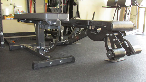 "20"" high Super Bench next to 18"" high Rep Fitness Adjustable Bench"