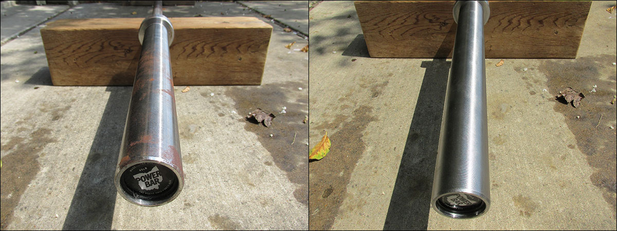 Before and After - rusty Ohio Power Bar