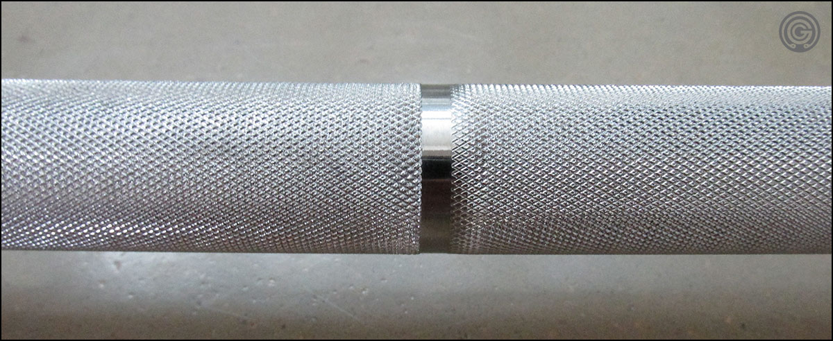 Eleiko Performance Weightlifting Bar knurling detail
