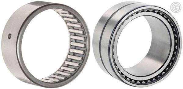 Standard needle bearings versus needle bearings with inner race
