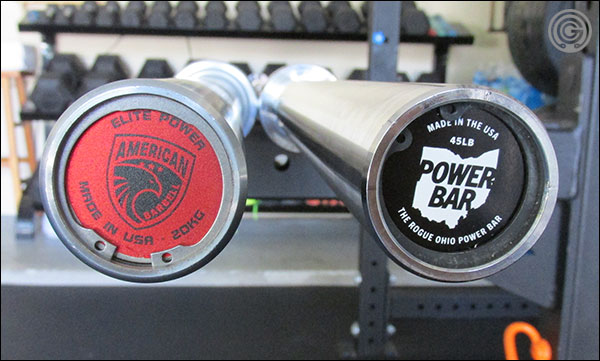 American Barbell Elite Power Bar versus the Rogue SS Ohio Power Bar
