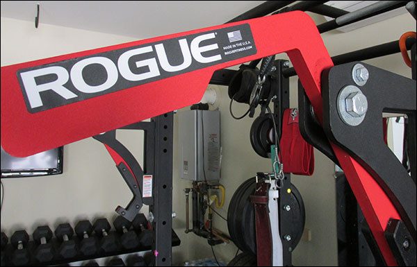The Rogue Monolift Attachments have a fancy red and black colorway - makes your rack pop