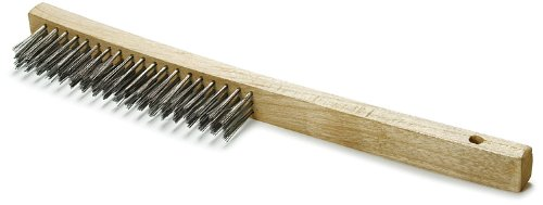 If you're going to use a wire brush, use a brush with stainless steel bristles on stainless steel bars