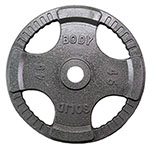Body Solid Grey Cast Iron Grip Olympic Plates
