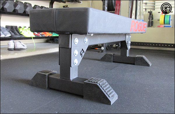 Thompson Fat Pad mounted on a custom cut Rogue Monster Utility Bench