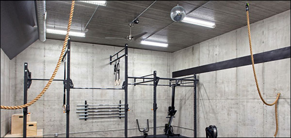 Dark garage gym? brighten it up with new lighting