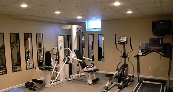Recessed Canister lighting for your garage gym