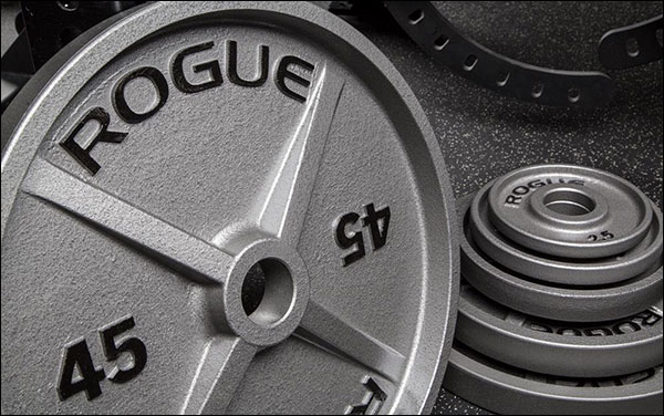 Rogue Machined Cast Iron Olympic Plates