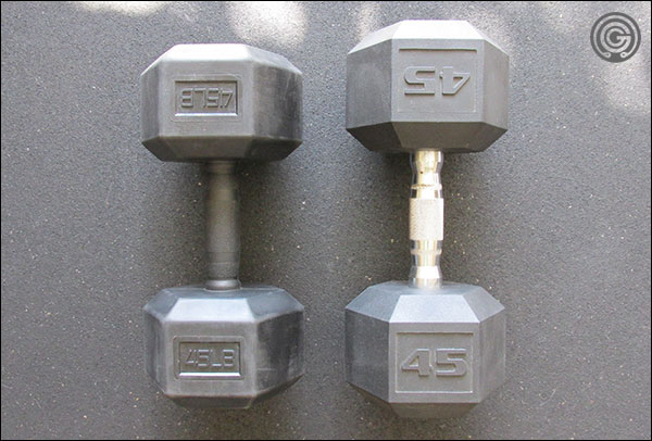 Vulcan Hex Dumbbells are more compact than standard hex dumbbells