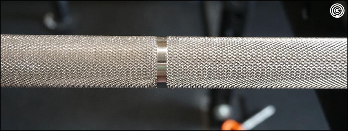 Strength Shop Bastard Power Bar knurling close-up