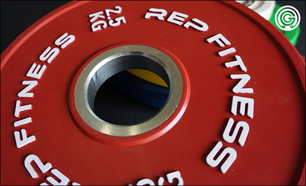 Steel hub of the Rep Fitness Kilogram Change Plates