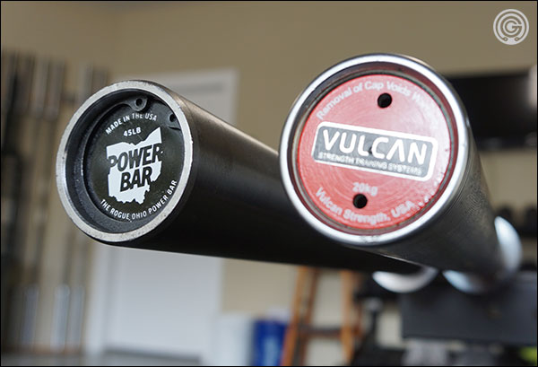 Rogue Ohio Power Bar vs Vulcan Absolute 2.0 Power Bar