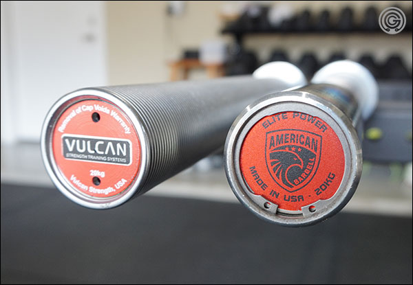 American Barbell Power Bars versus the Vulcan Absolute