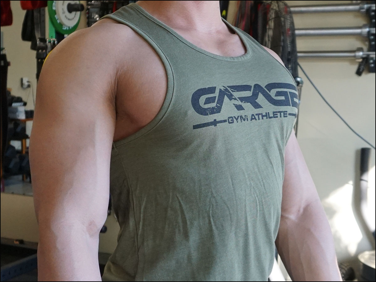 "Garage Gyms Olive Drab ""Athlete"" Tank Top"