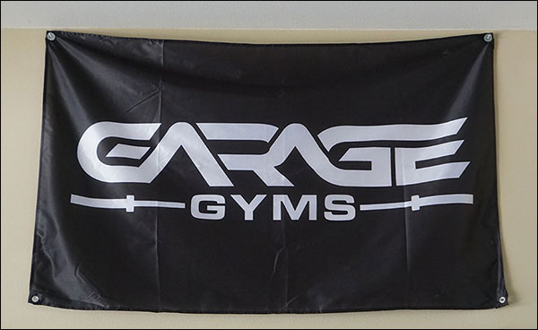 Garage Gyms Flags now available at the Garage Gyms Store - Support the site and improve your gym's decor situation.