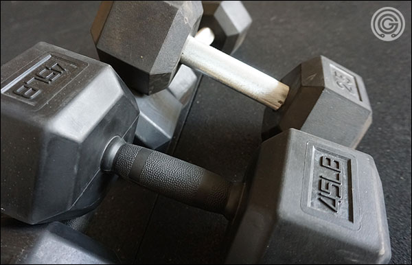 Vulcan's Pro Hex Dumbbells versus the Rep Fitness Dumbbells