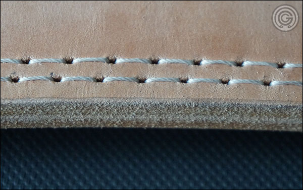 Double stitching of the Iron Company Forged Passion Power Belt