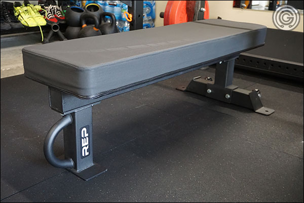 "Rep FB-5000 Competition bench with the optional 14"" Wide Pad"