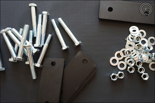 MyRack zinc-plates, steel hardware and powder coated backer plates