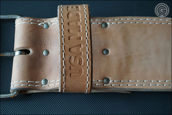 Iron Company's Forged Passion Belt with 'USA MADE' stamped on the belt loop