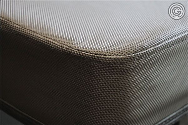 Close of up Rep Fitness' Wide Pad stitching and grippy vinyl