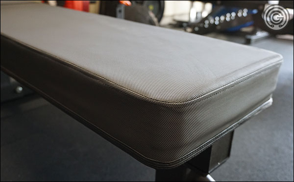 Thick foam pad with a grippy vinyl cover