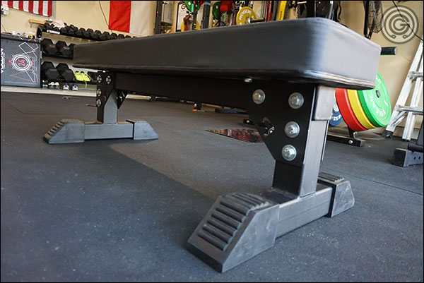"Rogue ""shorty"" Monster Utility Bench with the Rep Grippy Pad"