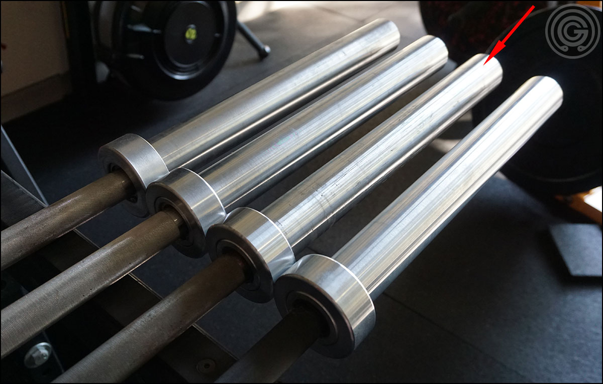 Four American Barbell bars, no rust on any of their sleeves
