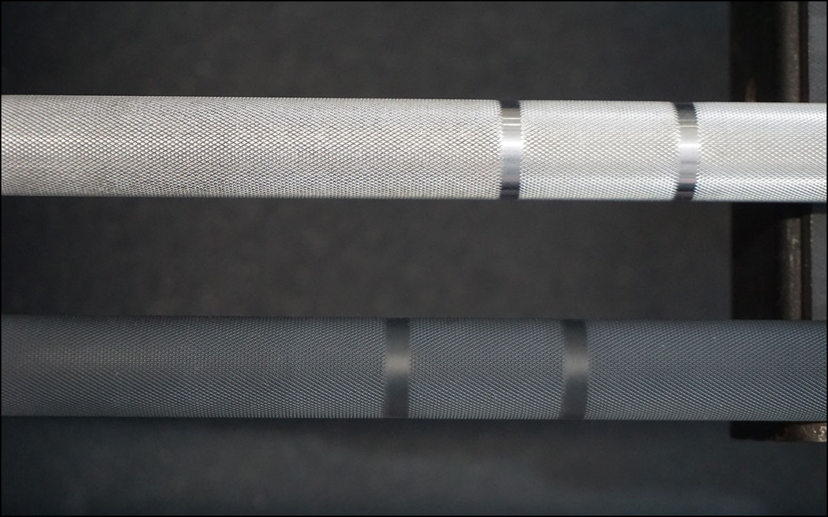 Rogue Matt Chan Bars - a knurling comparison. It's unchanged