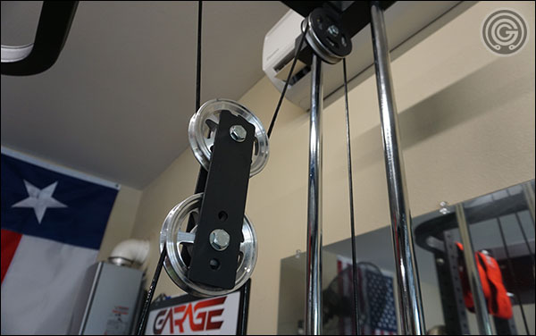The Lat Tower Attachment features aluminum pulleys and a dual guide rail system - very strong and very smooth