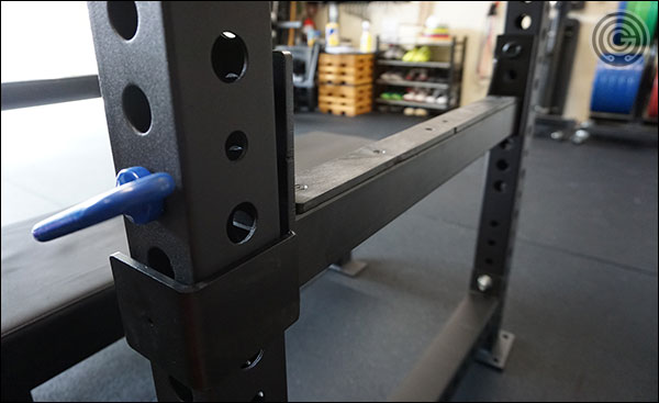 Flip down safety system for the Rep Fitness PR-5000 Power Rack