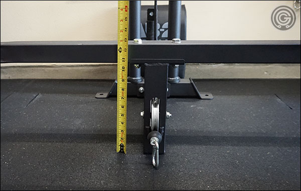 There's simply no where to place the feet when performing low cable rows.