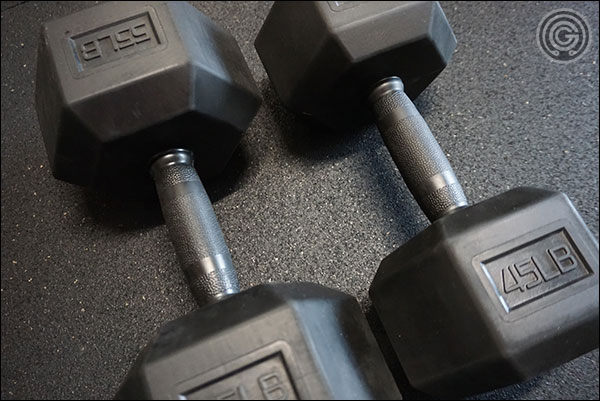 Vulcan Strength Rubber Grip Dumbbells versus Rep Fitness'