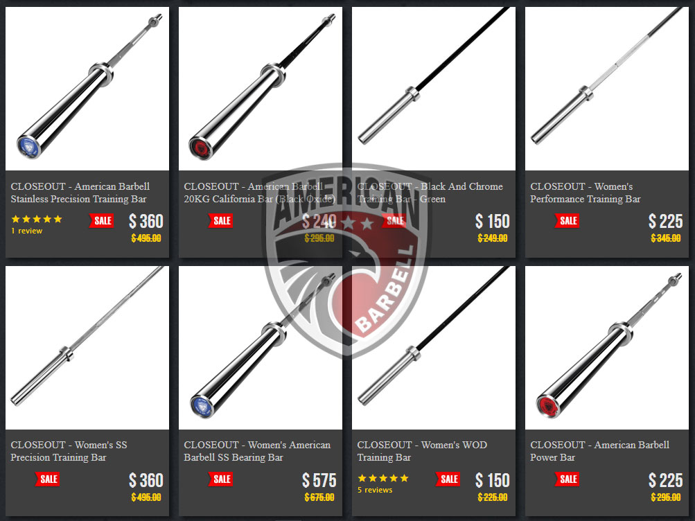 American Barbell Close-Out and Blemish Barbell Sale