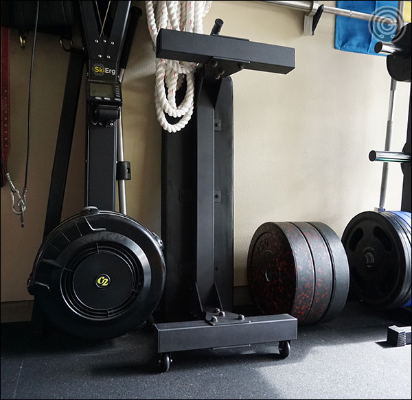 The Vulcan Prime 3x3 Flat Bench easily stores away vertically to save space when not in use.