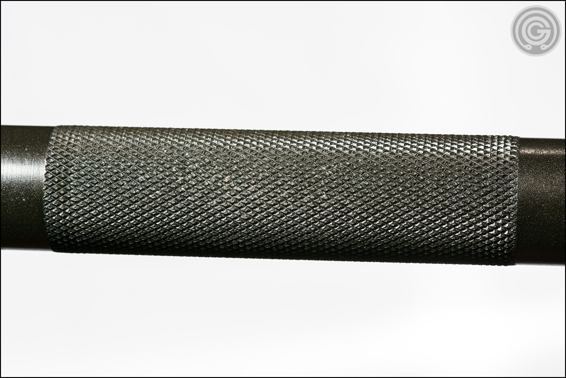 Knurling Gallery - Buddy Capps Texas Power Bar center knurl