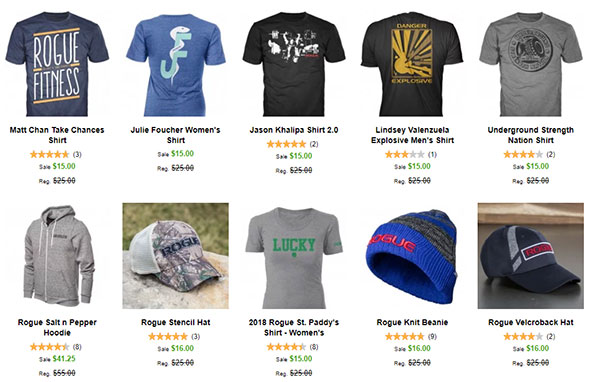 Rogue Deals is full of apparel, gear, and equipment on the cheap