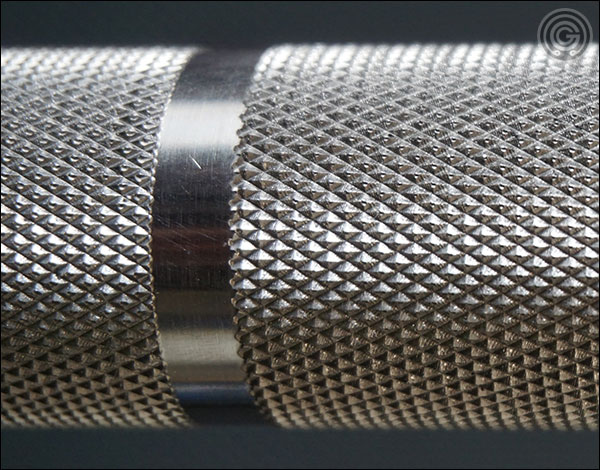 Vulcan SS Absolute Power Bar knurling close-up