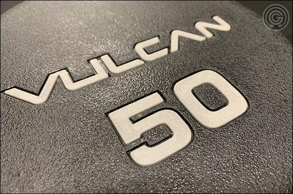 Vulcan Prime Urethane Dumbbells - Branding and Lettering