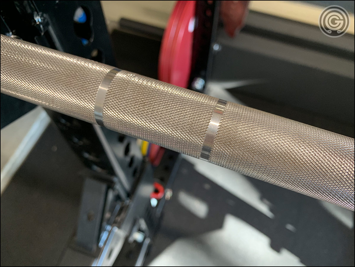 Buddy Capps Starting Strength Bar Review - Knurling and Dual-Marks