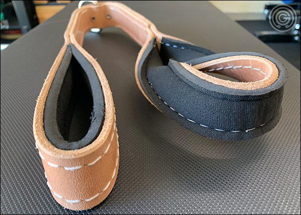 Pioneer Leather Tricep Strap - inner neoprene foam lining